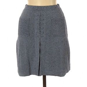 C/Meo Collective Gray Blue Skirt Size S Pocket